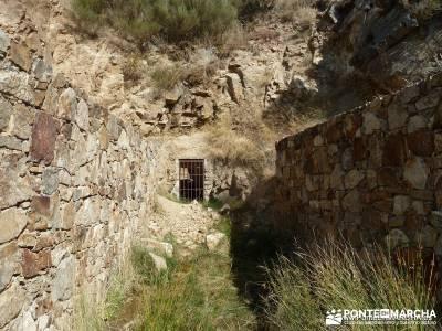Mondalindo - Mina de plata del Indiano; excursion fin de semana solo mochilas trekking en madrid